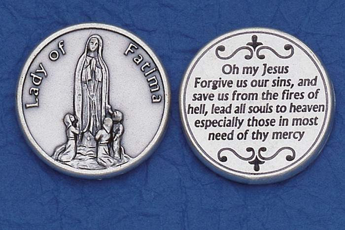 Our Lady of Fatima Pocket Token